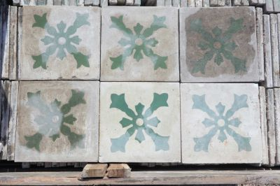 Double Pyramide - carreaux ciment anciens - salvage concrete tiles - reclaimed cement tiles